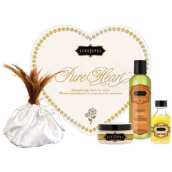 KAMA SUTRA PURE HEART VANILLA MASSAGE KIT GIFT SET SENSUAL LOVERS BODY TREATS