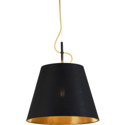 Modern Pendant Lamp Black and Gold Andrie