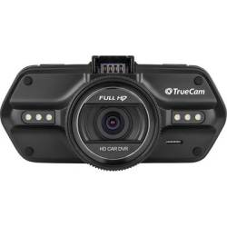 TrueCam A5s Dashcam with GPS Horizontal viewing angle (max.) 130 ° 12 V 24 V Microphone Display Battery