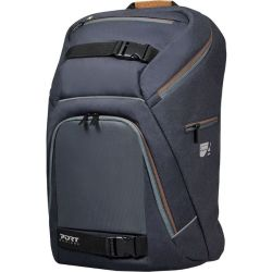 PORT DESIGNS GO LED 15.6 Laptop Backpack Grey Brown Grey