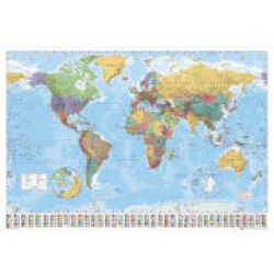 World Map 2012 Giant Poster 100 x 140cm