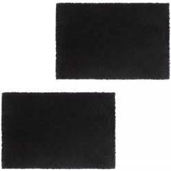 vidaXL Doormats 2 pcs Coir 24 mm 50x80 cm Black