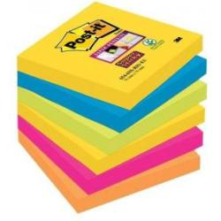 Post it Sticky note 6546SR 76 mm x 76 mm Neon green Ultra blue Ultra yellow Ultra pink Neon orange 540 sheet