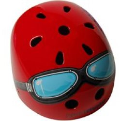 Red Goggle Helmet by Kiddimoto Small