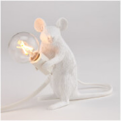 Seletti Sitting Mouse Lamp White