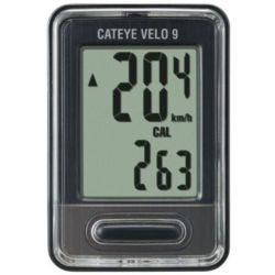 Cateye Velo 9 Wired Cycle Computer Black Black