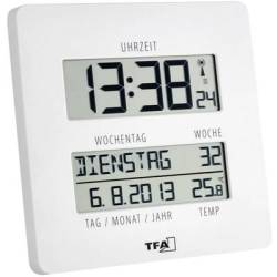 TFA Dostmann 60.4509.02 Radio Wall clock 27 mm x 195 mm x 195 mm White
