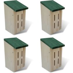 vidaXL Butterfly House 14 x 15 x 22 cm Set of 4