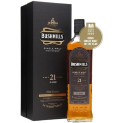Bushmills 21 Year Old Madeira Finish Irish Single Malt Whiskey