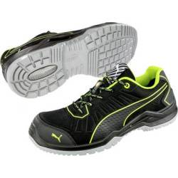 PUMA Safety Fuse TC Green Low 644210 46 ESD protective footwear S1P Size 46 Black Green 1 Pair