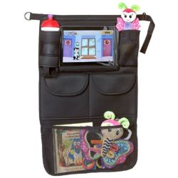 A3 Baby Kids Car Organizer with Tablet Holder Black