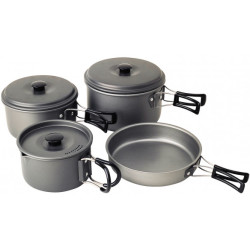 Campingaz Geschirr Set Eloxiert grey black