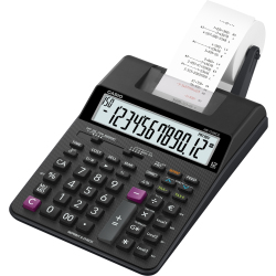 Casio HR 150 RCE Calculator with built in printer Black Display (digits) 12 battery powered mains powered (optional) (W x H x D) 165 x 65 x 295 mm