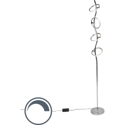 Design floor lamp chrome incl. LED and dimmer Olympia