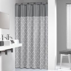 Sealskin Shower Curtain Angoli 180 cm Grey 233561312