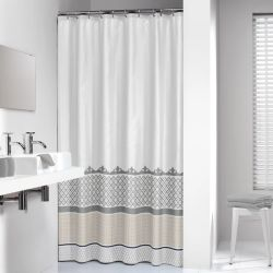 Sealskin Shower Curtain Marrakech 180 cm Silver 235281318