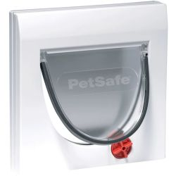 PetSafe Manual 4 Way Cat Flap without Tunnel Classic 919 White 5031