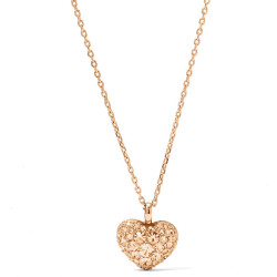 Fossil Women Glitz Heart Pendant Orange One size