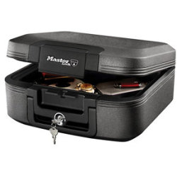 Master Lock LCHW20101 Medium Fire and Waterproof Security Chest