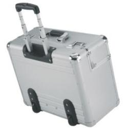 Alumaxx Omega Trolley Pilot Case 2 Combination Locks 5.3kg Silver