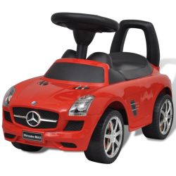 vidaXL Mercedes Benz Foot Powered Kids Car Red