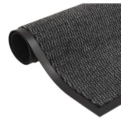 vidaXL Dust Control Mat Rectangular Tufted 80x120 cm Anthracite