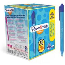 Paper Mate S0977440 Inkjoy Retractable Pens Blue Ink Pack of 100