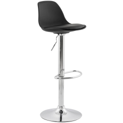 Alyn Black Stainless Steel Gas Lift Bar Stool