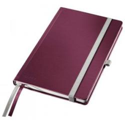 Leitz Garnet Red Style Notebook A5 ruled with hardcover Pack of 5x