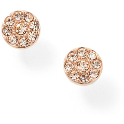 Fossil Women Disc Rose Tone Studs Gold One size