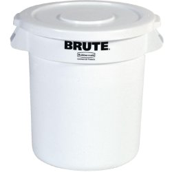 Rubbermaid Round Brute Container 121Ltr Container White
