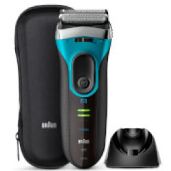 Braun Series 3 Proskin 3080S Electric Shaver Black Blue
