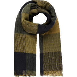 Y.A.S Soft Check Scarf Women Black Green