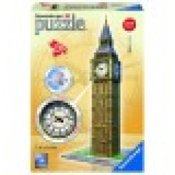 3D Jigsaw Puzzle Big Ben with Clock