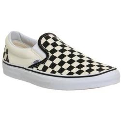 Vans Classic Slip On Shoes BLACK WHITE CHECK