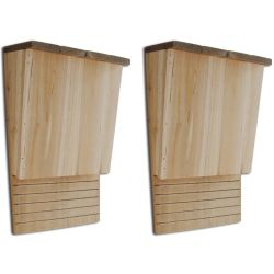 vidaXL 41293 Bat House 22 x 12 x 34 cm Set of 2