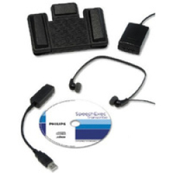 Philips Transcription Kit Headset 234 Foot Control 210 Software Web