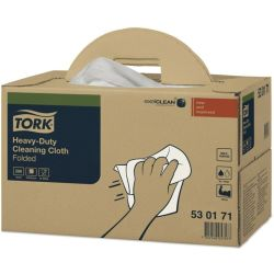 530171 Heavy Duty White Cleaning Cloths Pack of 200 Tork