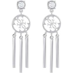 Ladies Guess Rhodium Plated Miss Divine Earrings