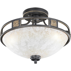 Country Round Ceiling Lamp 42 Rust Quinta