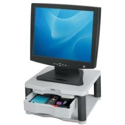Fellowes Premium Monitor Riser Plus White Contains storage drawer and